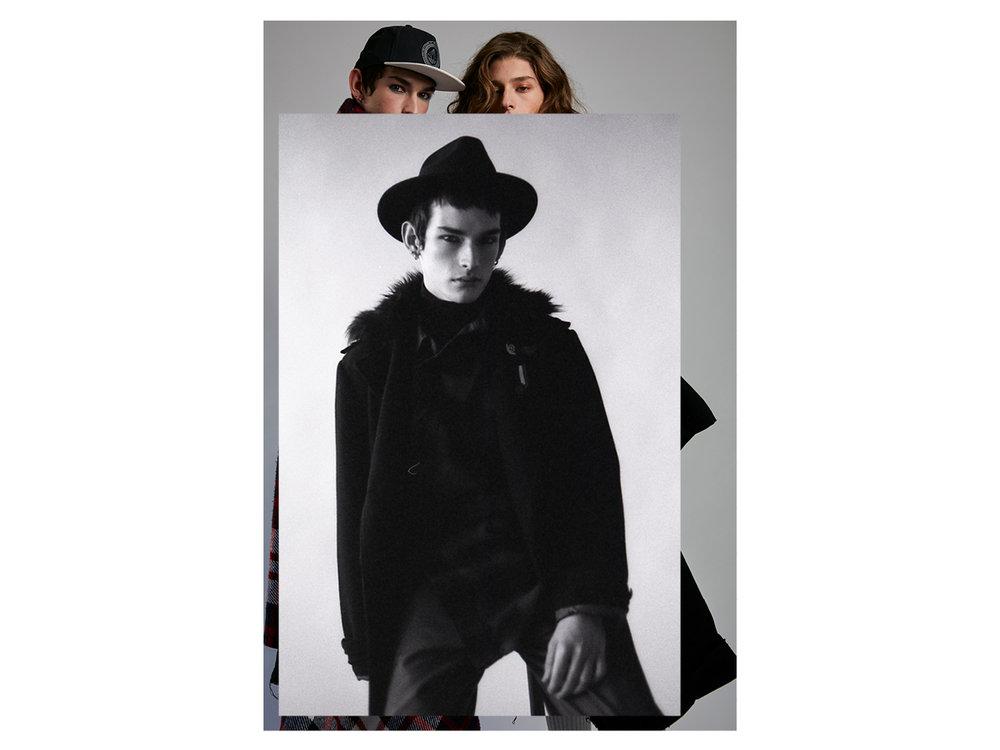 40fdfc362 BrunaCastanheira9.jpg. Francesco usa casaco e chapéu preto Renner, camisa  xadrez ...