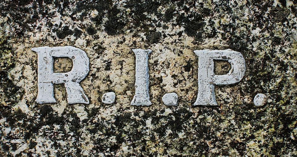 CCO: Source:  https://pixabay.com/en/rip-r-i-p-rest-in-peace-death-2190109/