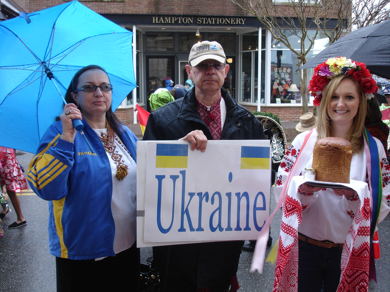 Despite the rainy weather, Ukraine was well represented at the festival.
