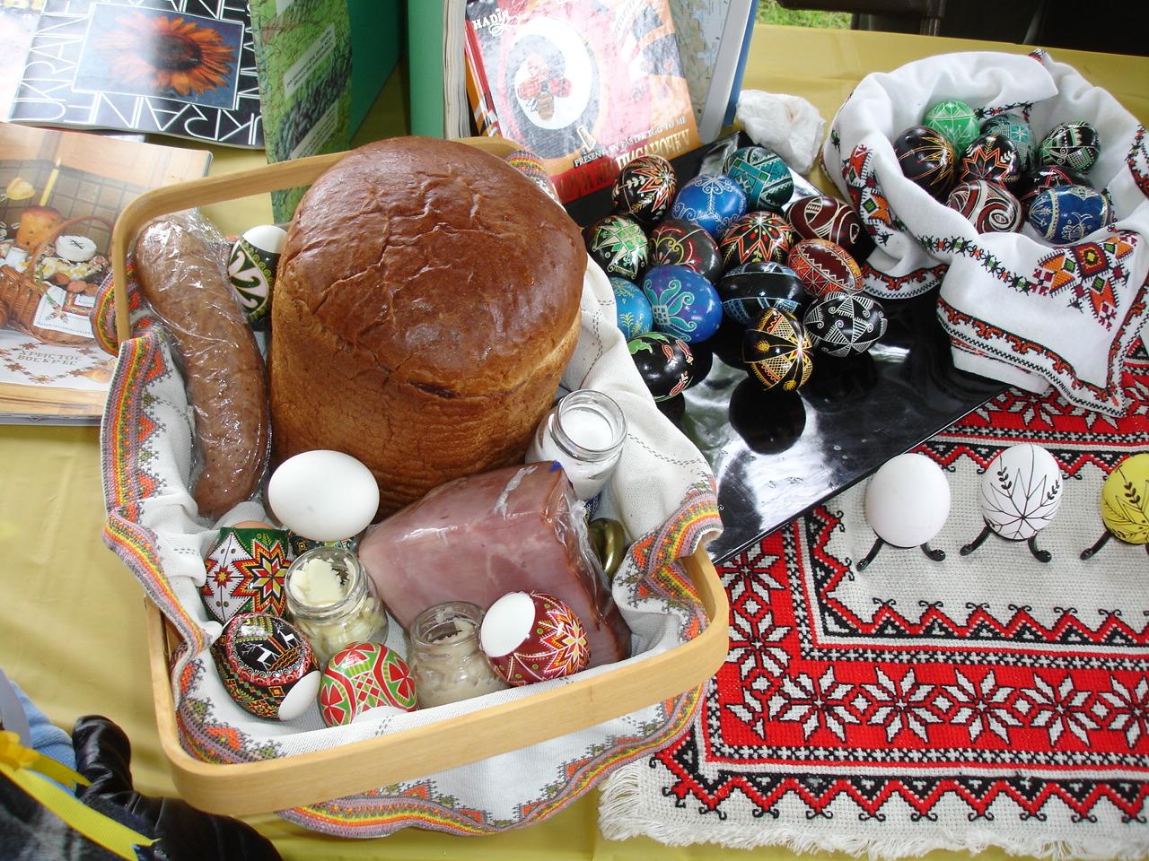 Traditional Ukrainian Easter basket.