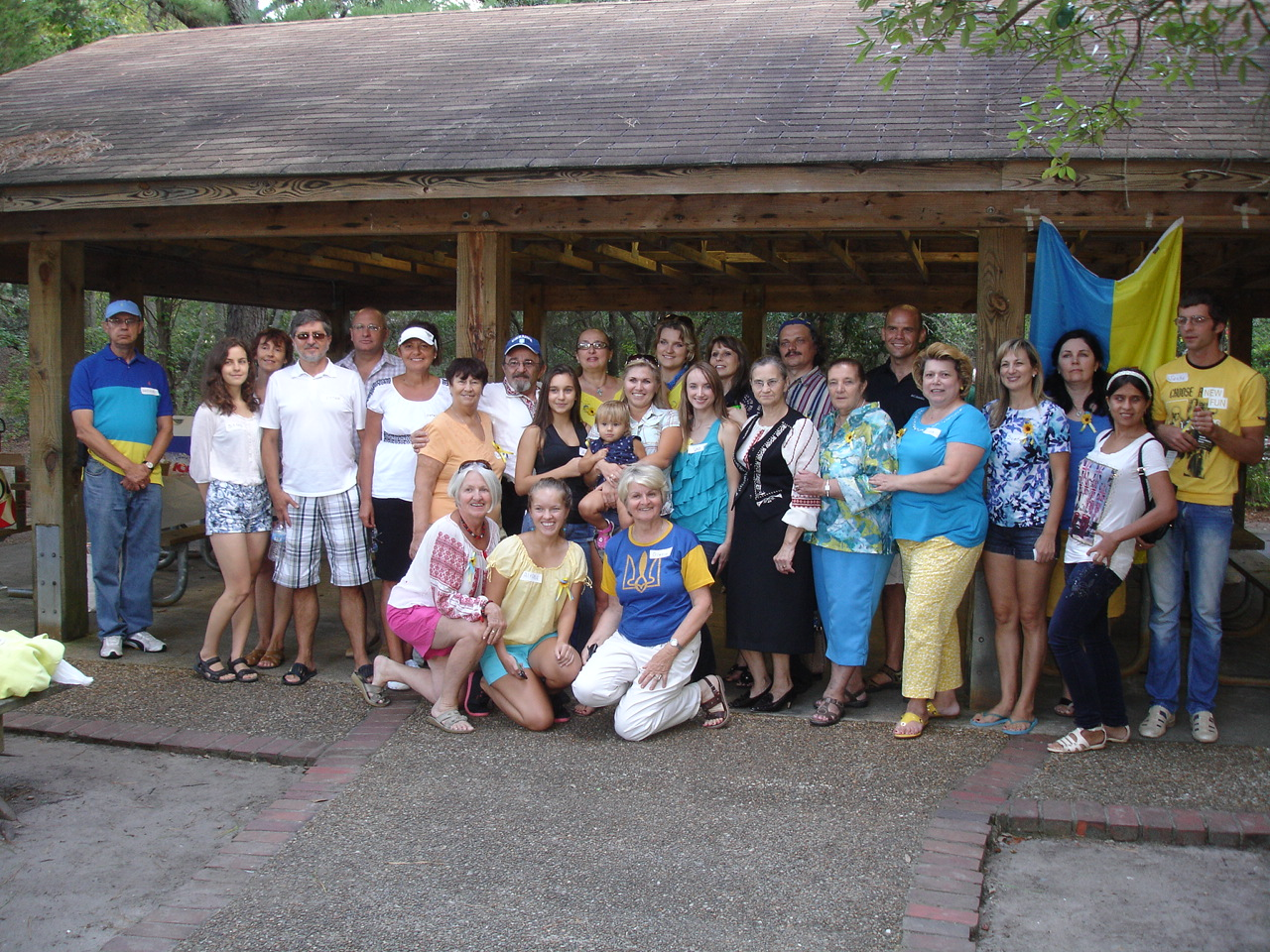 Ukrainian Independence Day group photo.