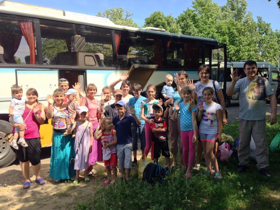 Slavyansk Evacuation of families