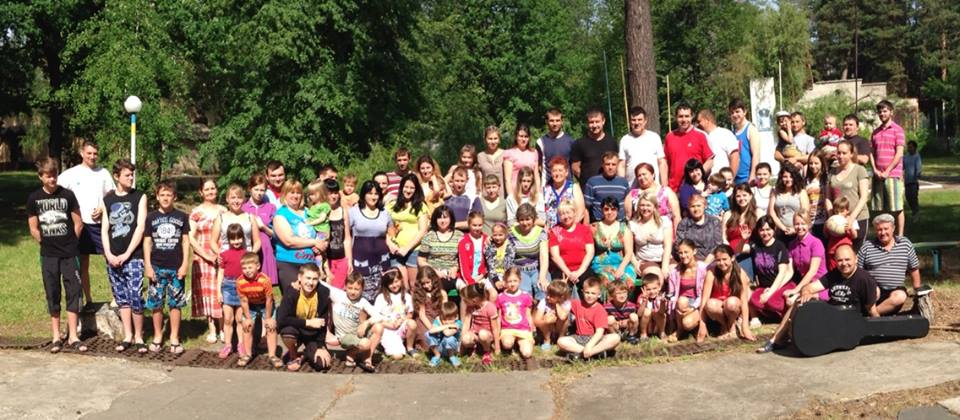 Slavyansk. Evacuated families and orphans in a safe camp