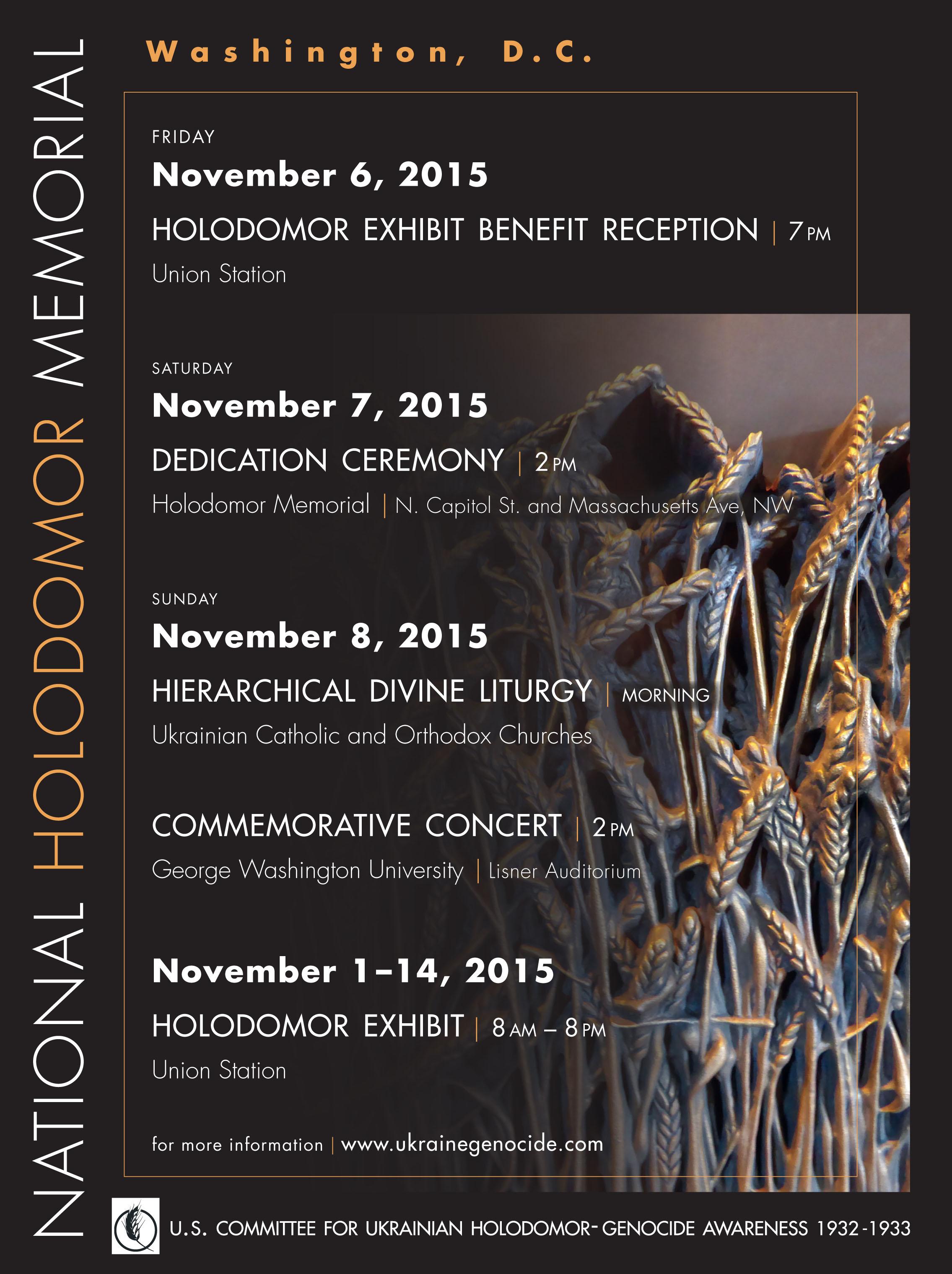 DC Holodomor Dedication