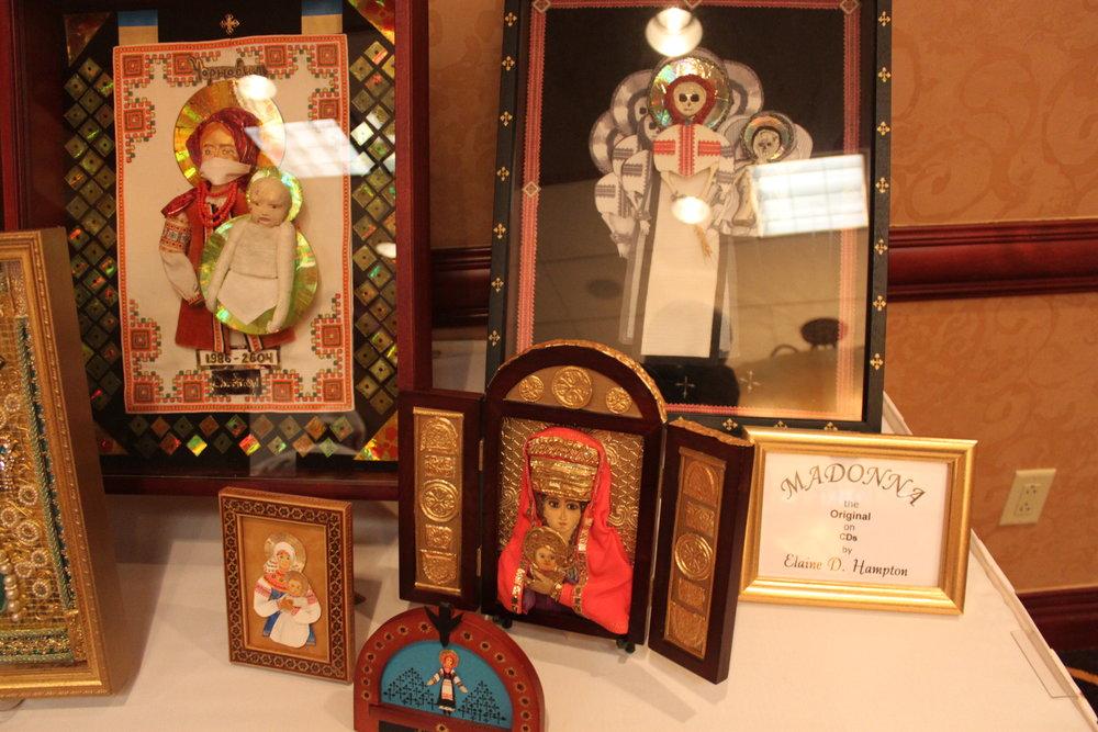 Elaine Hampton's Madonna icons.
