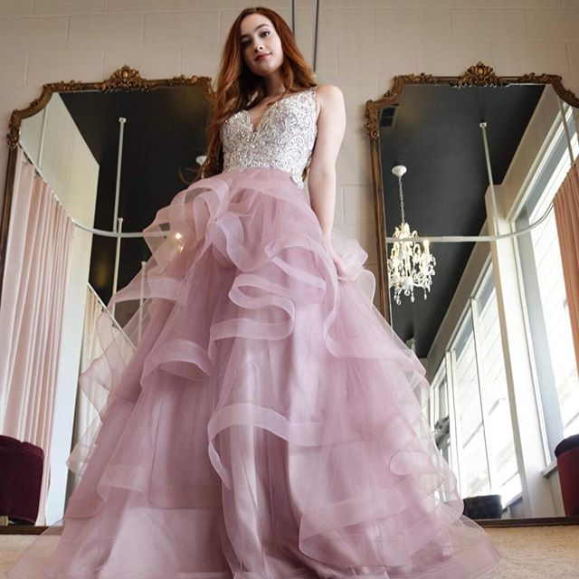 @macylbrowning slayed at our photo shoot with @myvisualperception ! 🔥🔥🔥 pure magic ✨ #redhead #couturegown #promgirl2019 #formalgown #prominspiration2019