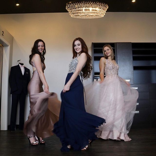 Who run the world? Girls! 🎶  Check our these stunning #newarrivals! #shoplocal #spokaneshops #formaldresses #promgirl #promshop #prom2019