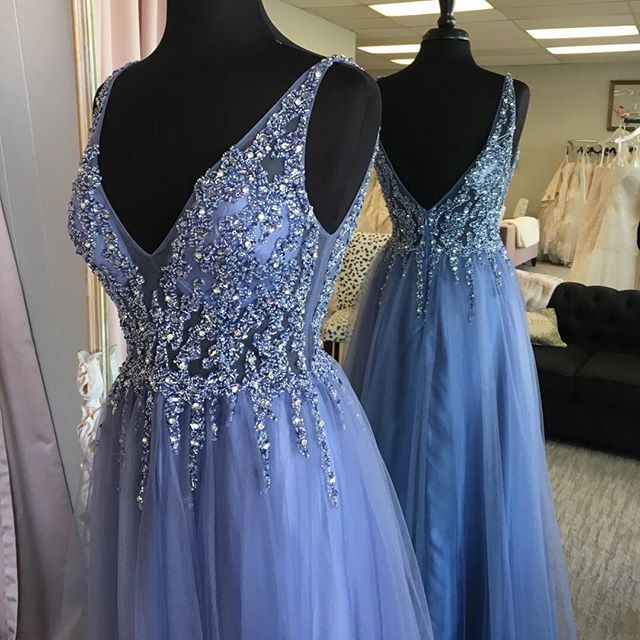 This color has us swooning! Will you be rocking one of these gorgeous pastels this prom season? #prom2019 #promgirl #pastelgown #sparkle