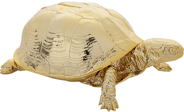 Gold Turtle - $64.95