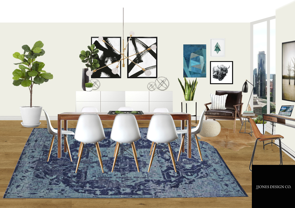 2D Rendering Of Dining Room