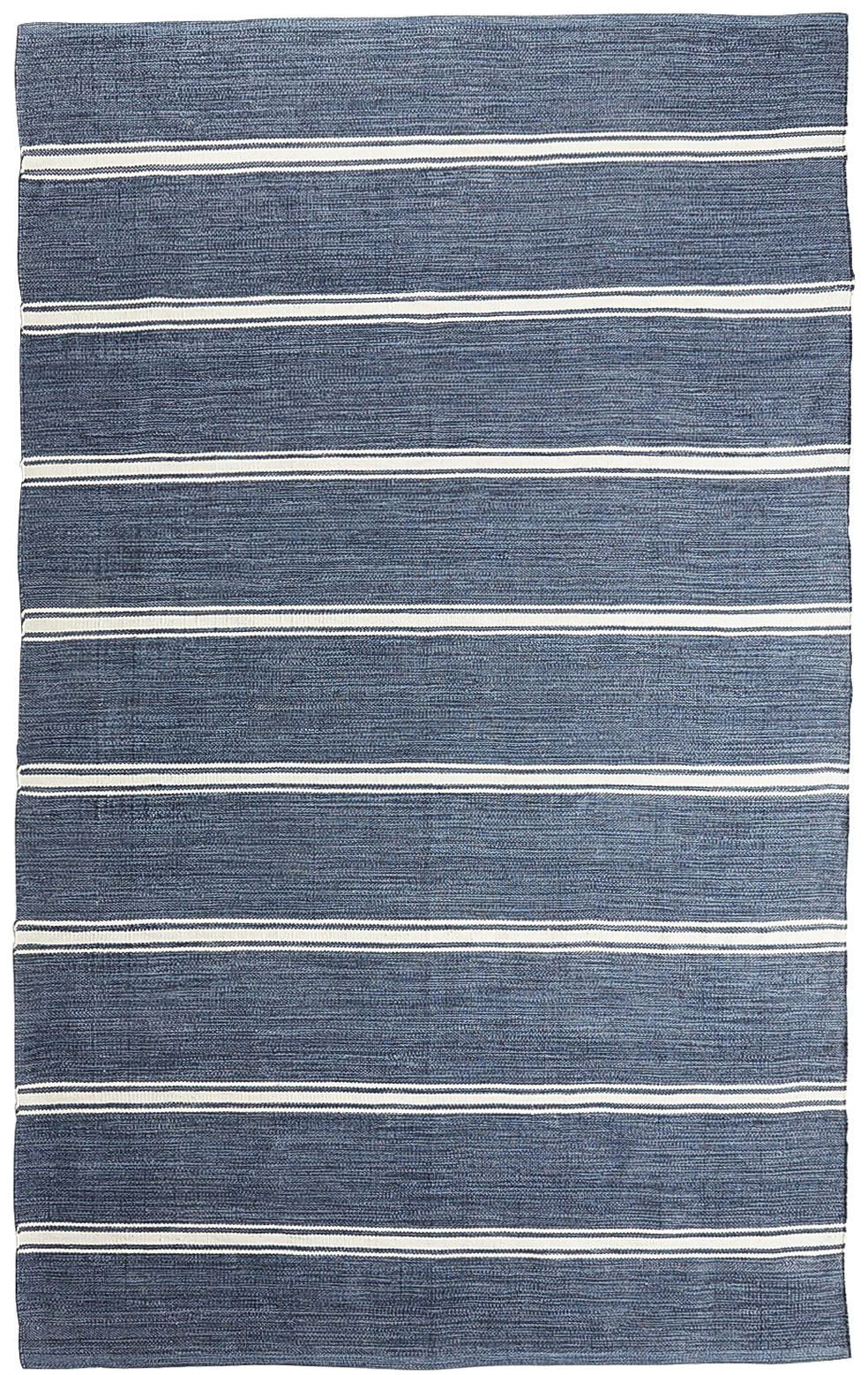Wide-Striped Navy & Ivory 8x10 Rug - $399.95
