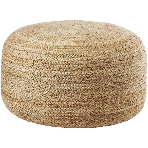 Braided Hemp Pouf - $79.95