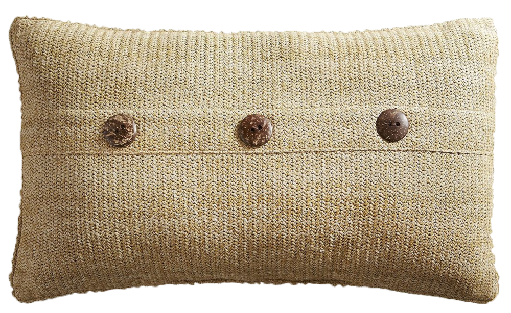 Carmela Oblong Natural Pillow - $30