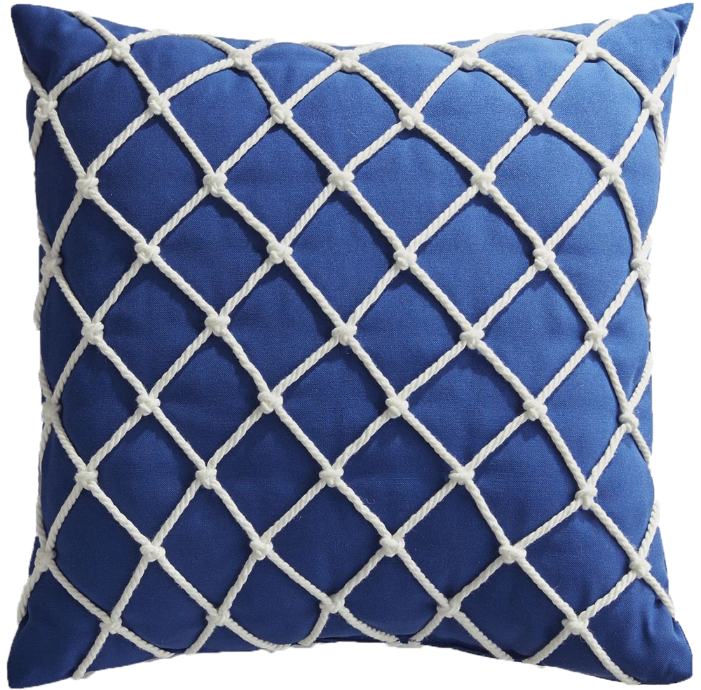 Fishnet Cobalt Pillow - $25