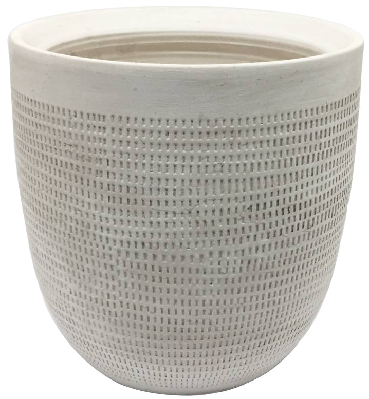 "9.5"" Ceramic Planter, White - $22.99"