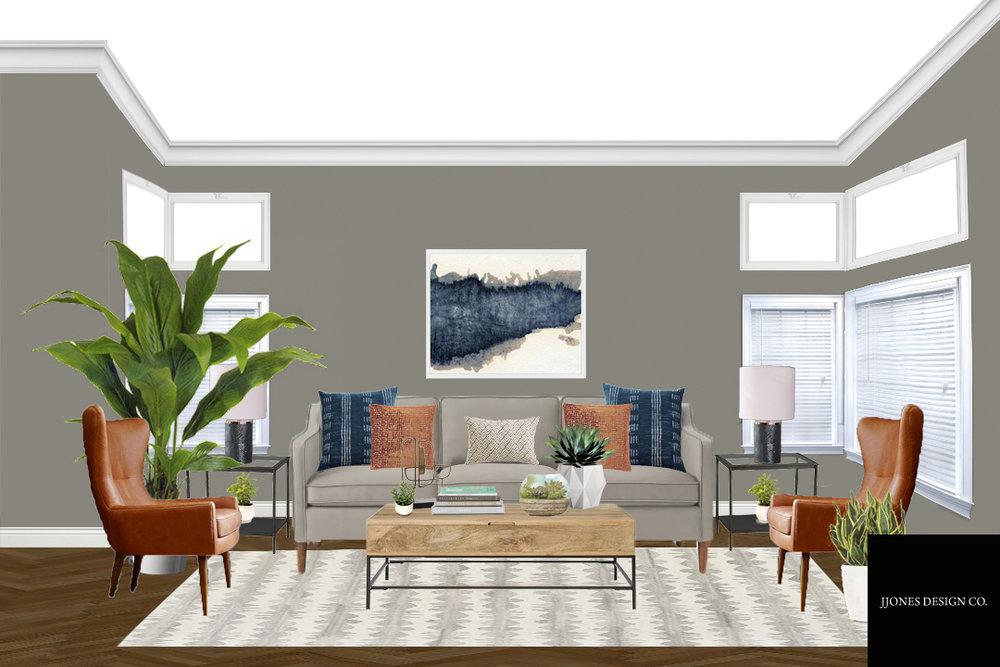 Modern Bohemian Style Living Room