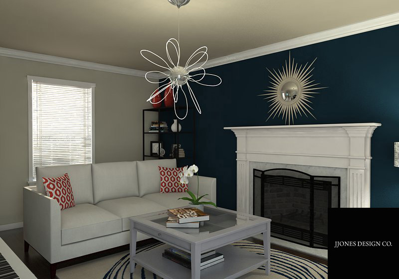 Living Room Rendering E-Design