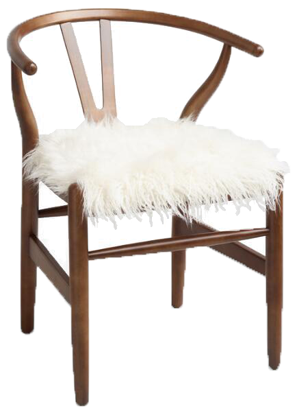 Ivory Flokati Chair