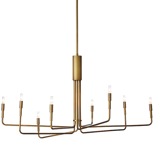 Clive 8-Arm Brass Chandelier