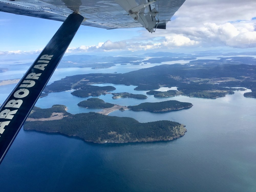 The view of San Juan Islands