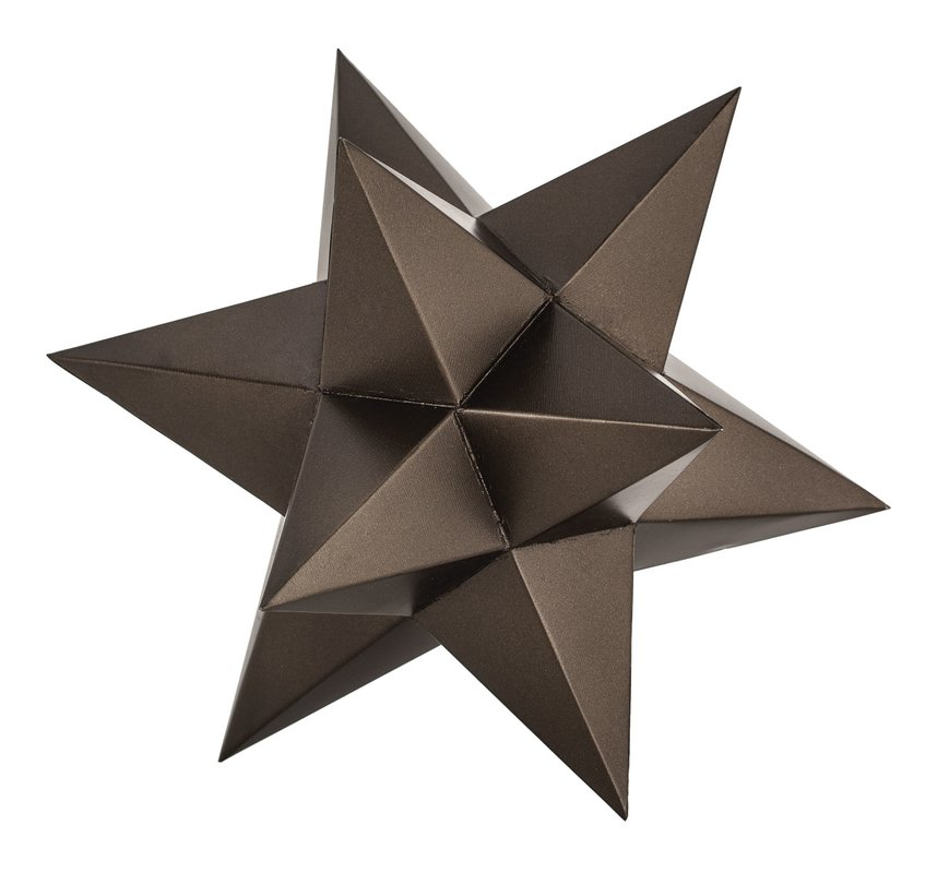 Aged Bronze Table Top Star Decor - $69.99