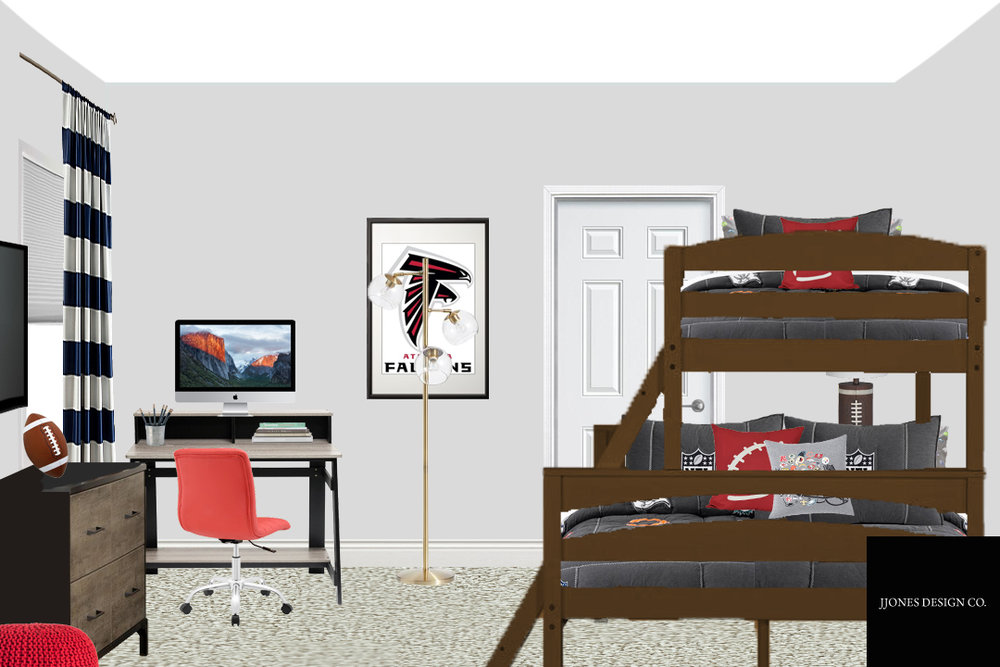 Boy Bedroom E-Design