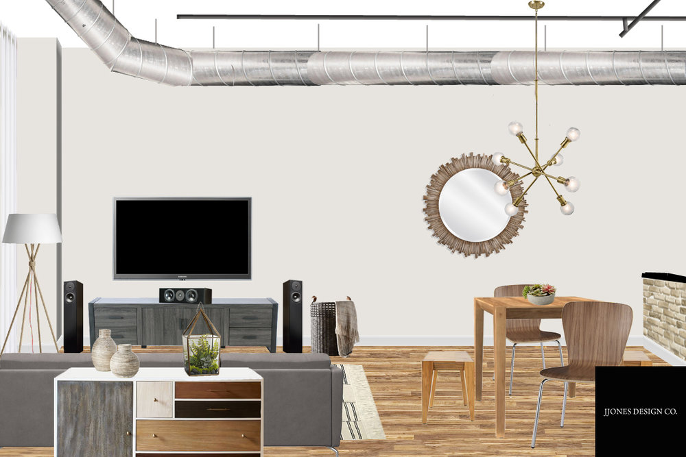 Loft Living & Dining Areas E-Design