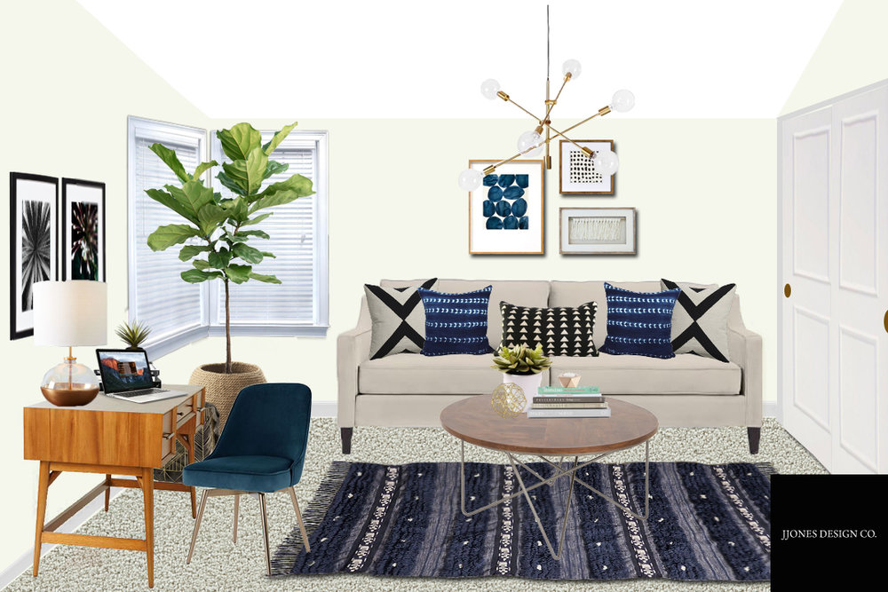 Modern Boho Office E-Design