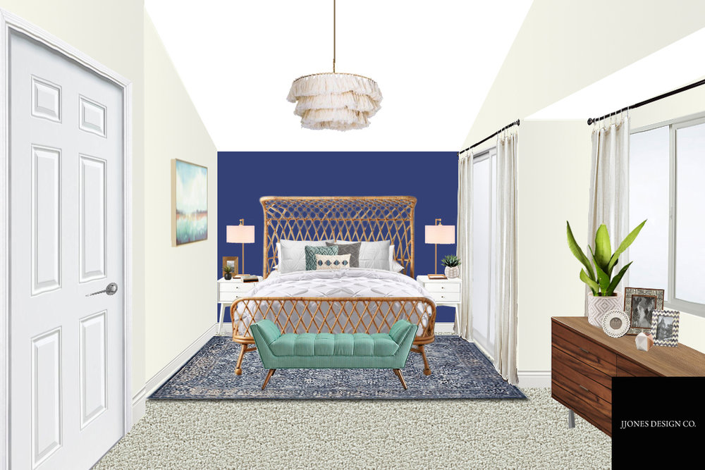 Modern Boho Master Bedroom E-Design