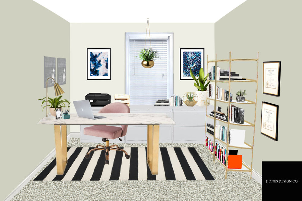 Eclectic Home Office E-Design