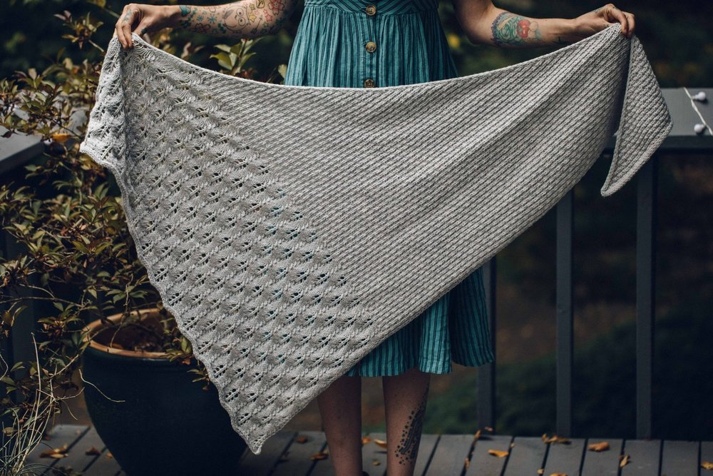 Hoarfrost Shawl by Drea Renee Knits