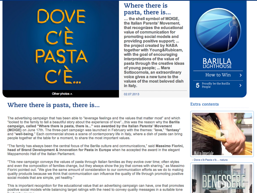 Barilla World intranet