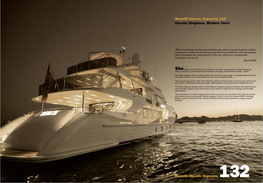 BE Magazine (print) - Benetti Yachts