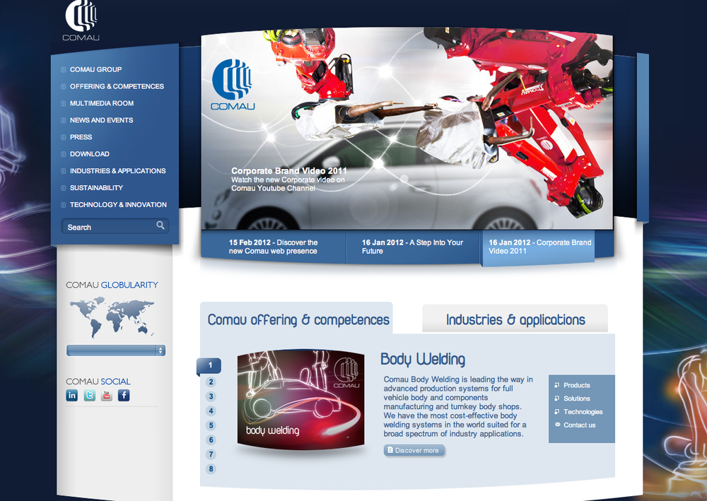 Comau website