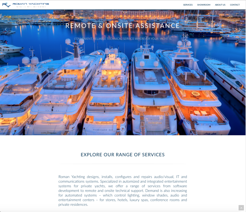 Roman Yachting website