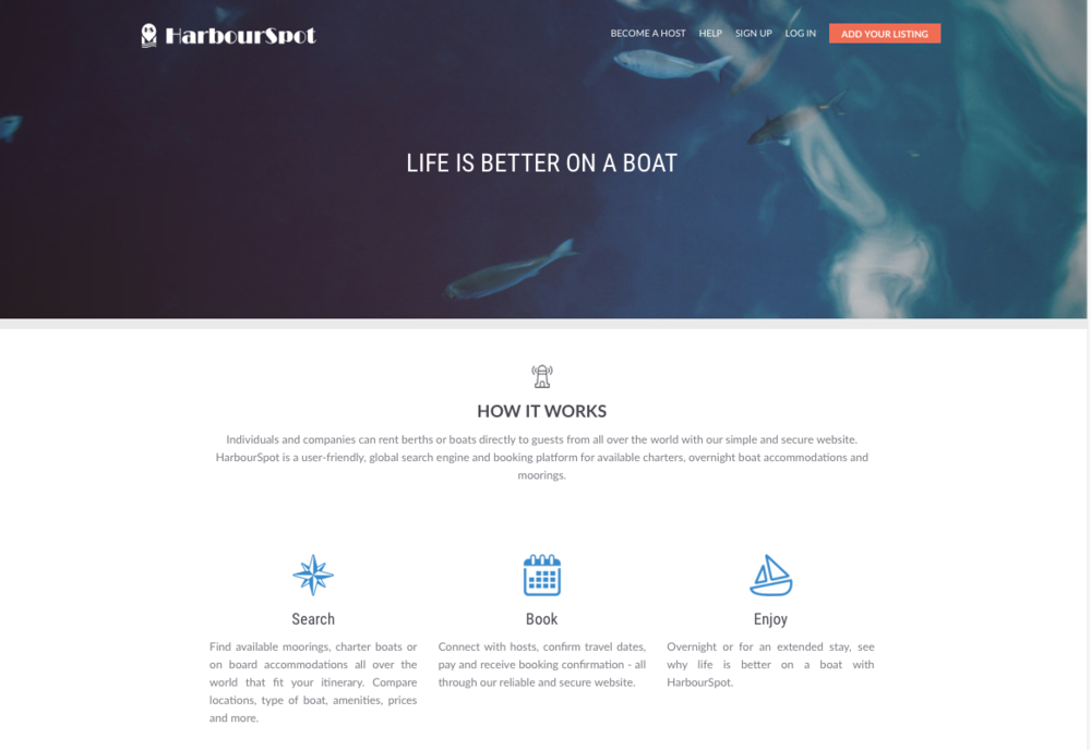 HarbourSpot - website
