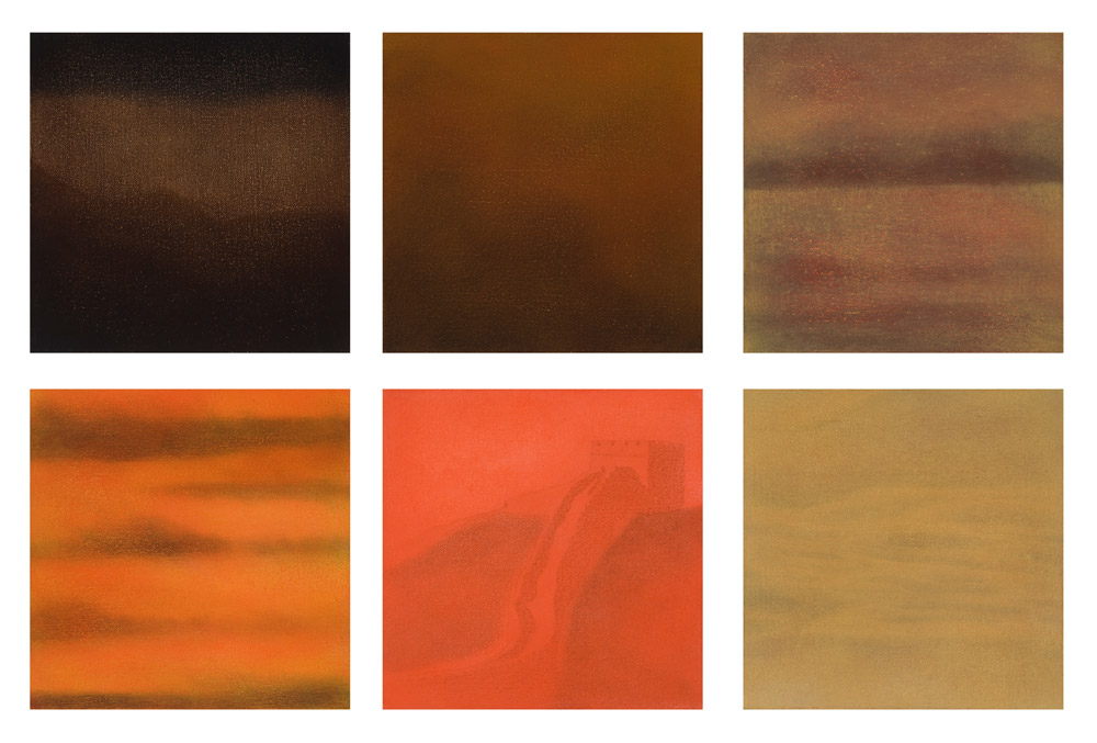 Atmosphere, Oil on canvas, Polyptych 25x25, 2008