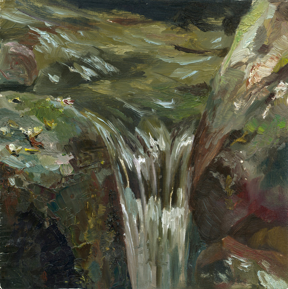 """Overflow"" detail of image ""Flow"" from Dedrick series. Oil on panel. 12x12"". 2009"