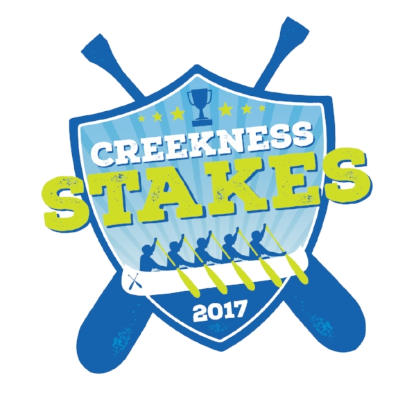Get in the boat. - Grab 7 or 8 of your friends, family or co-workers and see who can paddle a huge wooden Voyageur canoe down Trail Creek the fastest at the Creekness Stakes!
