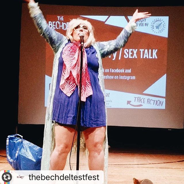Thank you @thebechdeltestfest - runs all weekend! #buylocal #womenincomedy #phillycomedy -@sextalktheshow doing a killer set 🙌🏻 #btf2017 INCREDIBLE
