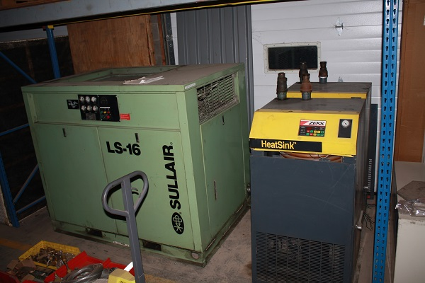 Sullair Air Compressor | 75 HP | With Zeks Heatsink Dryer | 463 Ph $5500