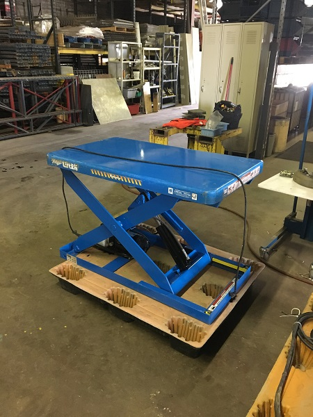 "(BLUE) Bishamon Scissor Lift | 2000 lb lift capacity | 28""x48"" Top 