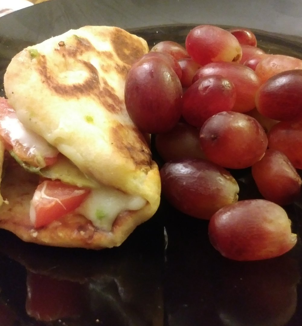 Grilled Cheese Naan -