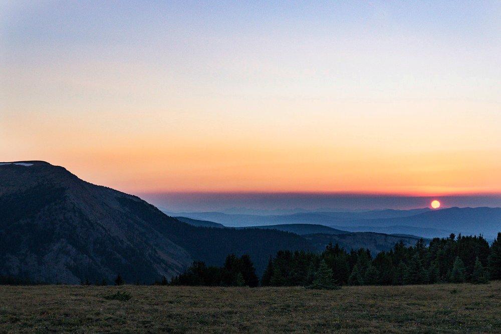 Sunset at Goat Flats