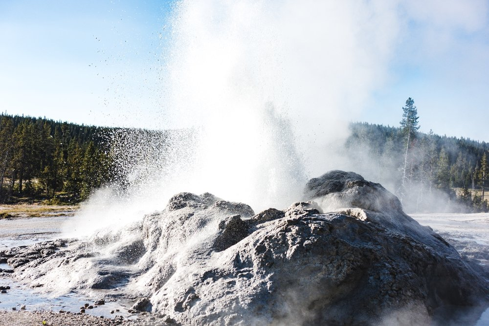 A Geyser blowing off mid day.