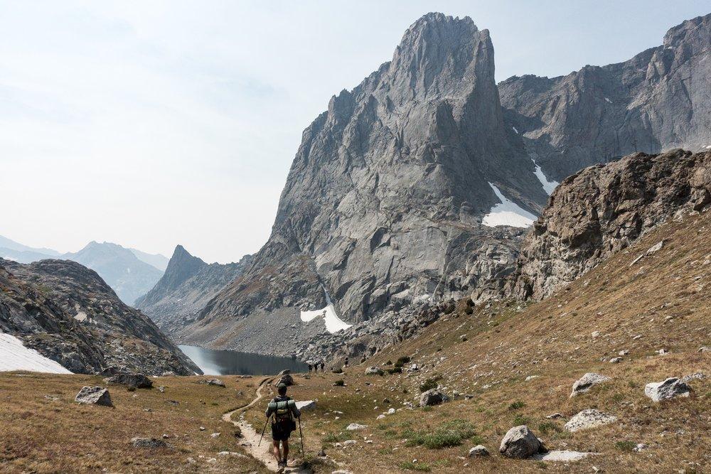 Descending from Jackass Pass