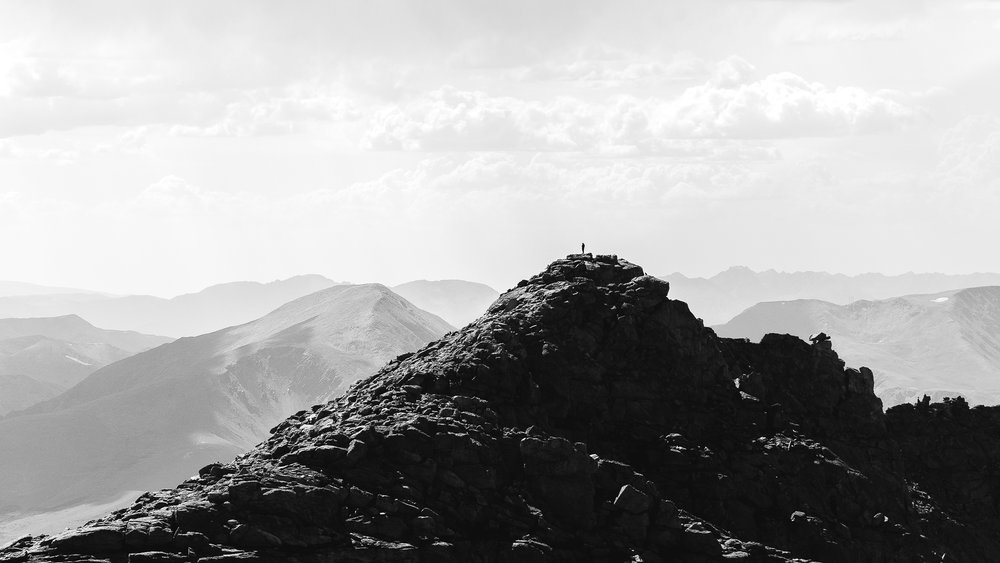 Looking back towards the ridge line from Mt. Evans.