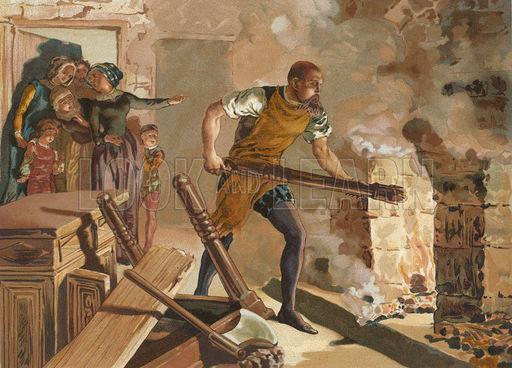Bernard Paliddy Burning His Furniture