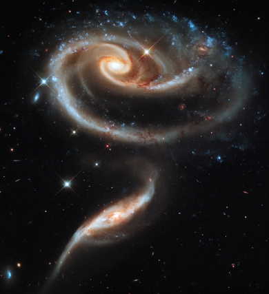 A Group of Interacting Galaxies (Taken From the Hubble Telescope)