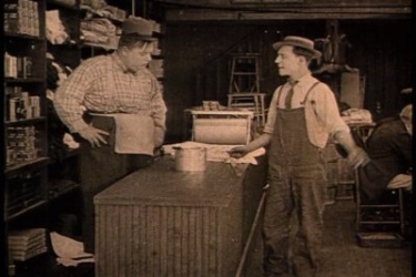 "Keaton & Arbuckle in ""The Butcher Boy"""